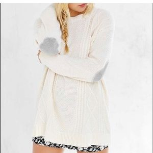 Urban Outfitters BDG Oversized Elbow Patch Sweater